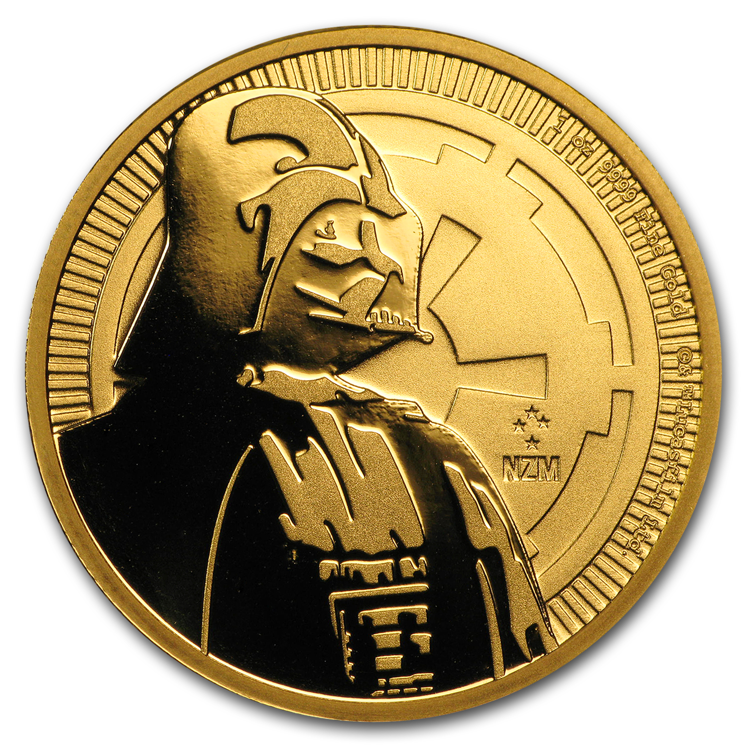 2017 Niue 1 oz Gold $250 Star Wars: Darth Vader BU